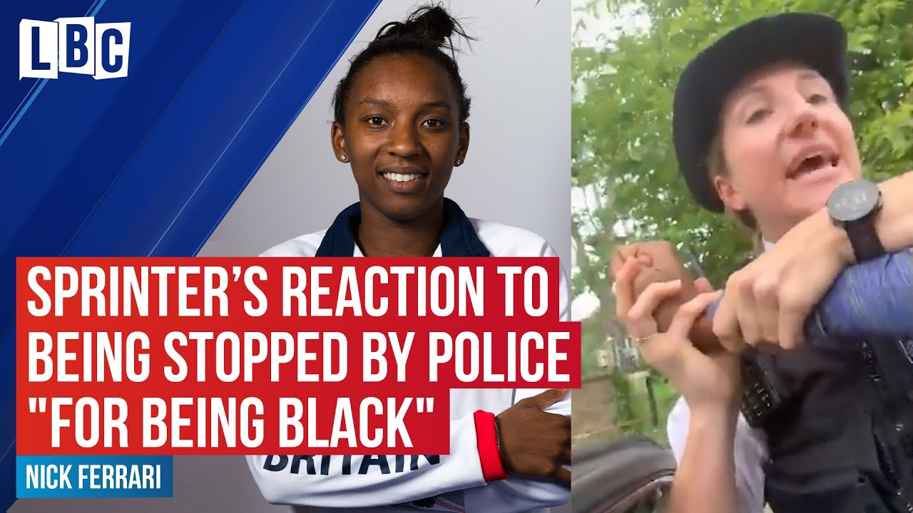 "Team GB's Bianca Williams calls LBC after being stopped by police ""for being black"" 