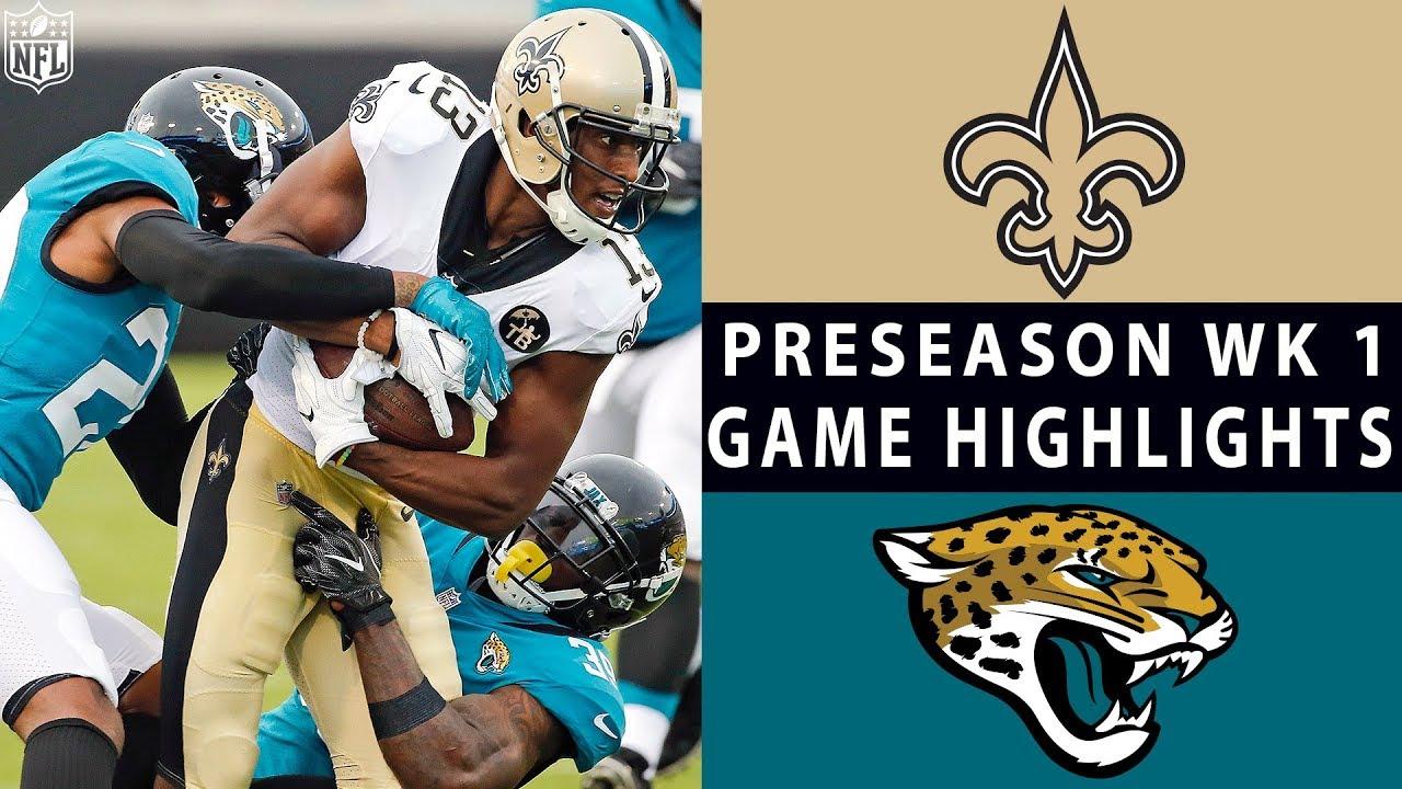 Saints vs. Jaguars Highlights   NFL 2018 Preseason Week 1