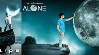 Rc Editz-Moon Is Always Alone | Picsart Manipulation Photo Editing | New Photo Editing Tutorial