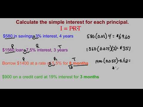 Simple Interest Video