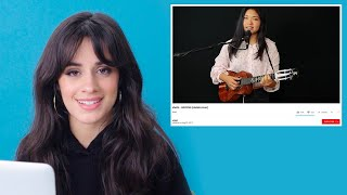 Camila Cabello Watches Fan Covers On YouTube | Glamour thumbnail