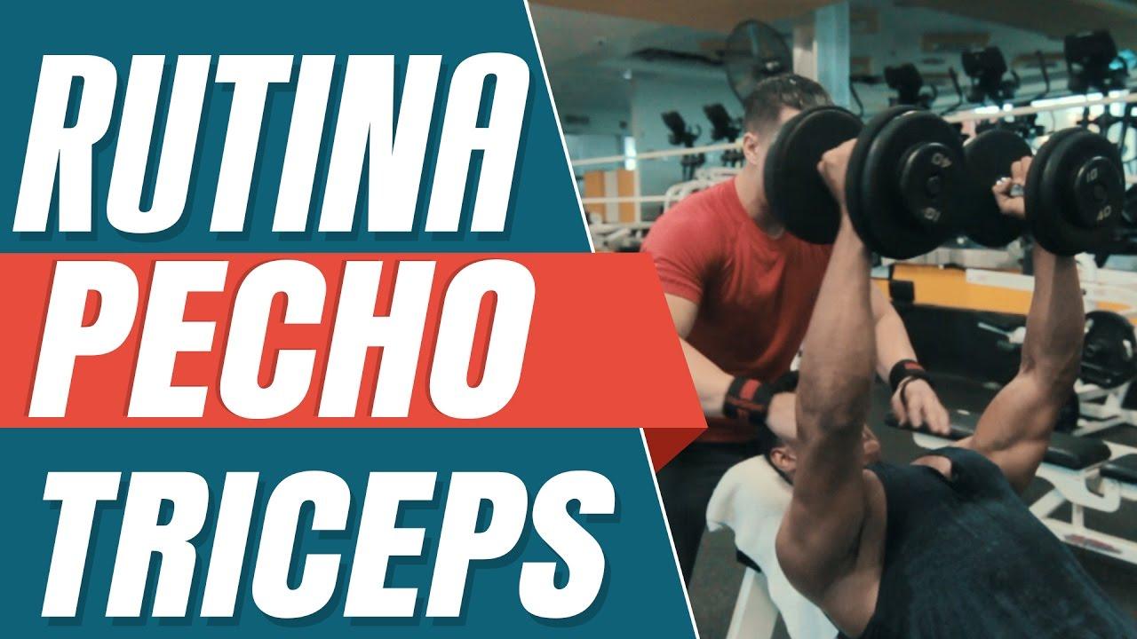 rutina pecho y triceps