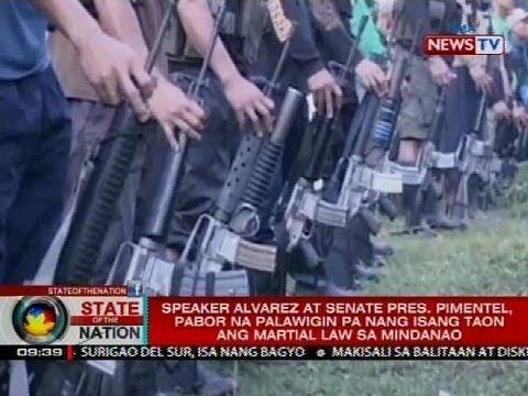 Alvarez at Pimentel, pabor na palawigin pa nang isang taon ang Martial Law sa Mindanao