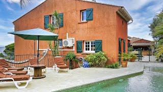 Ferienhaus Südfrankreich Côte d'Azur direkt am Strand mit Pool für 8 Personen COT104