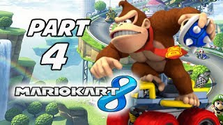 Mario Kart 8 Gameplay Walkthrough Part 4 - Donkey Kong Banana Cup Grand Prix 150cc (Wii U Gameplay)