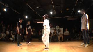 ATZO & P→☆ vs BOO + YULI POP BEST8 / WDC 2015 KANTO ELIMINATION DANCE BATTLE 2on2