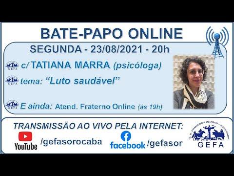 Assista: Bate-papo online c/ TATIANA MARRA (23/08/2021)