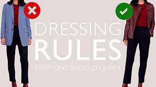 Dressing Rules EVERYONE Should Learn Once And For ALL (Part 2)