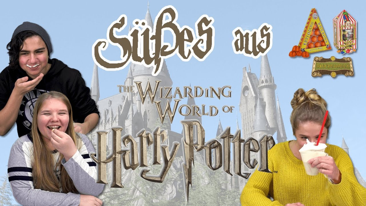Teens Probieren Harry Potter Süßigkeiten Jelly Beans Butterbier