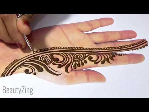 Stylish Mehndi Design - Unique Arabic Mehndi Design, आसान तरीके से सुंदर मेहँदी लगाना सीखे