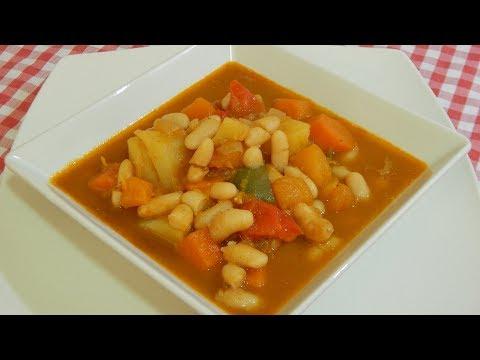 Receta fácil de alubias con calabaza y patatas (Alubias viudas)