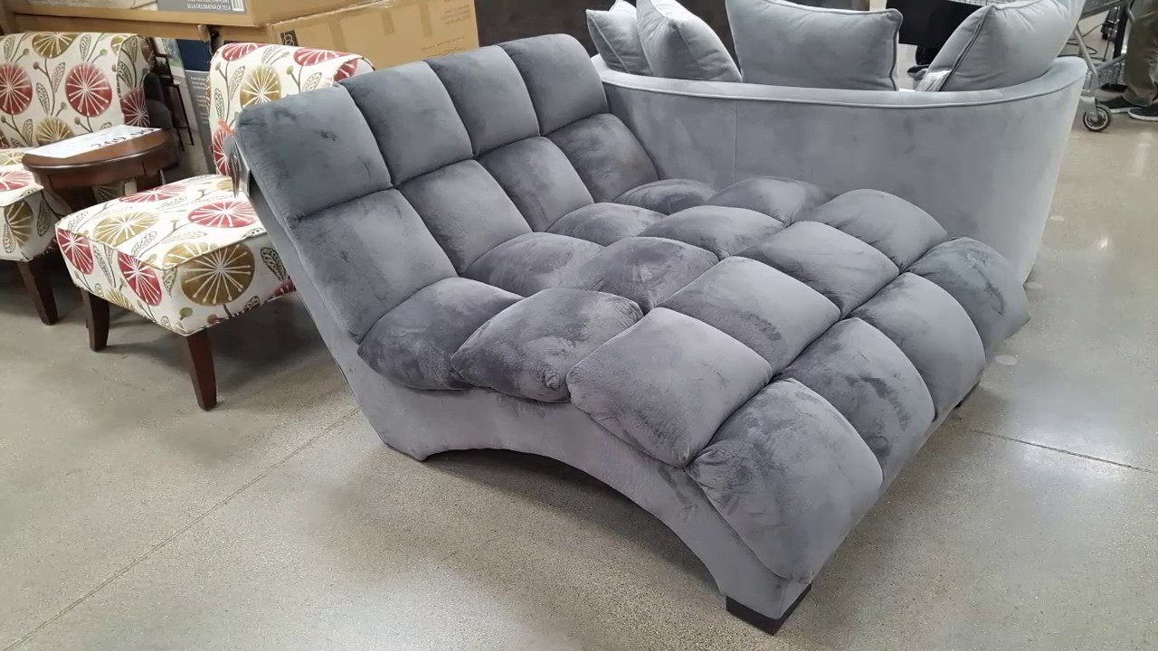 costco bainbridge fabric microfiber pillow chaise lounger 299