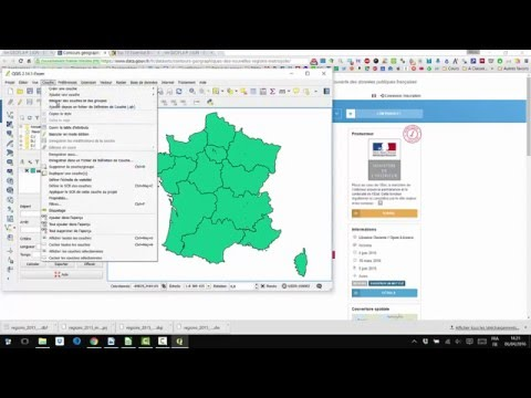 SHP to KML (or GeoJSON) with Qgis - YouTube