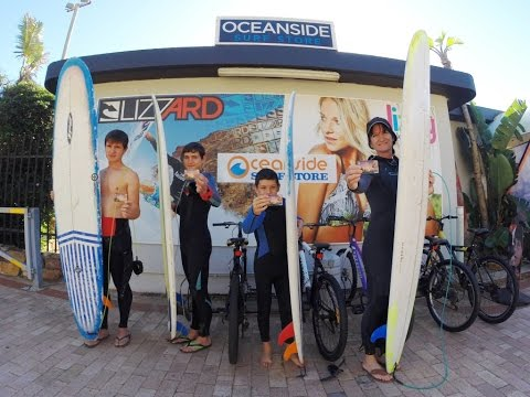Learning to Surf at Oceanside Surf Store in Port Elizabeth, South Africa