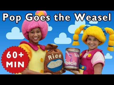 Pop Goes the Weasel and More | Nursery Rhymes from Mother Goose Club!
