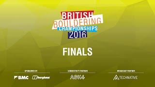 British Bouldering Championships 2016 - Finals