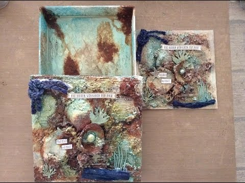 Maritime Geschenkbox mit #Rost Paste / #Tutorial / #How to do / #Giftbox + Card #mixedmedia