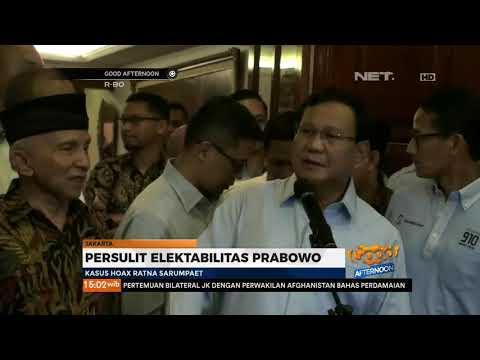 Kasus Hoax Ratna Sarumpaet,Persulit Elektabilitas Prabowo