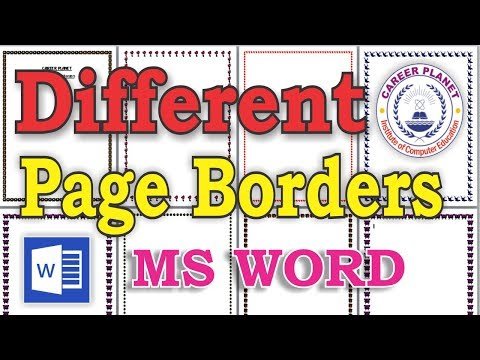 How to set border margin in ms word 2020