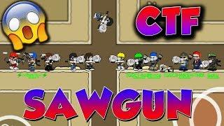 Mini Militia SAWGUN LOBBY Mod 6vs6 Capture The Flag(CTF) Gameplay | Doodle Army 2: Mini Militia #119