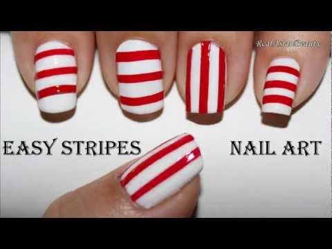 Easy Stripes Nail Art (no brush needed)