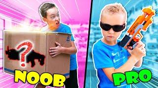 Don't Grab WRONG Nerf Mystery Box !! Noob vs Pro NERF Gun Game