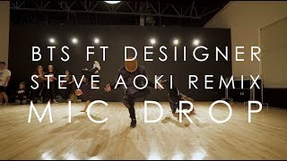 Cover images BTS Ft. Desiigner ( Steve Aoki Remix) - Mic Drop | @mikeperezmedia Choreography