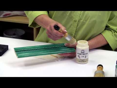 FolkArt Home Decor: Learn How To Use Clear Wax
