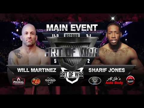 "WILL MARTINEZ VS SHARIF ""BAMM BAMM"" JONES"