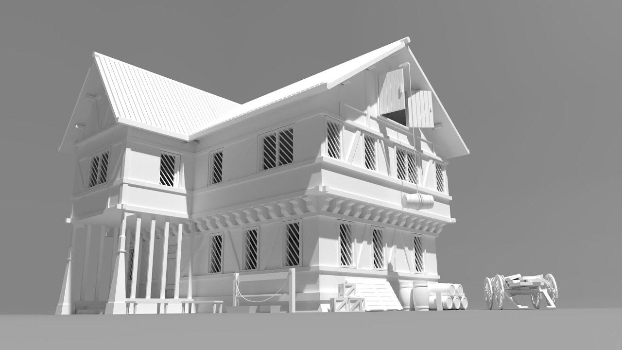 Blender Buildup Rpg House Game Asset Youtube