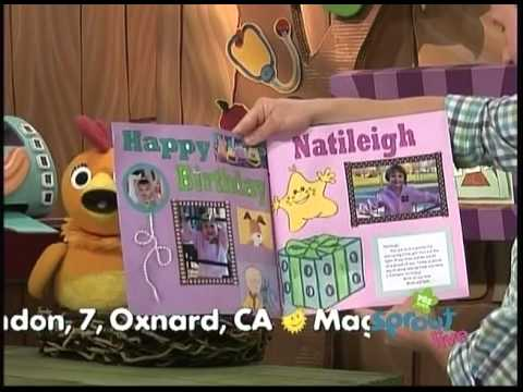 Sebastians birthday card read by Sean on PBS KIDS Sprout 622011