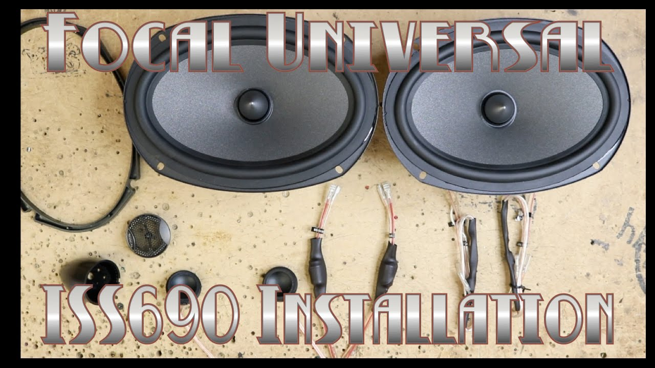 focal universal iss690 unboxing and installation in a 2015 ford f150 -  youtube