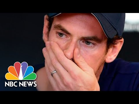 Tennis Star Andy Murray Breaks Down In Tears As He Reveals Retirement Plan | NBC News