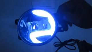 Светодиодные противотуманки с ДХО С-образные для Toyota\Lexus. От МирДХО