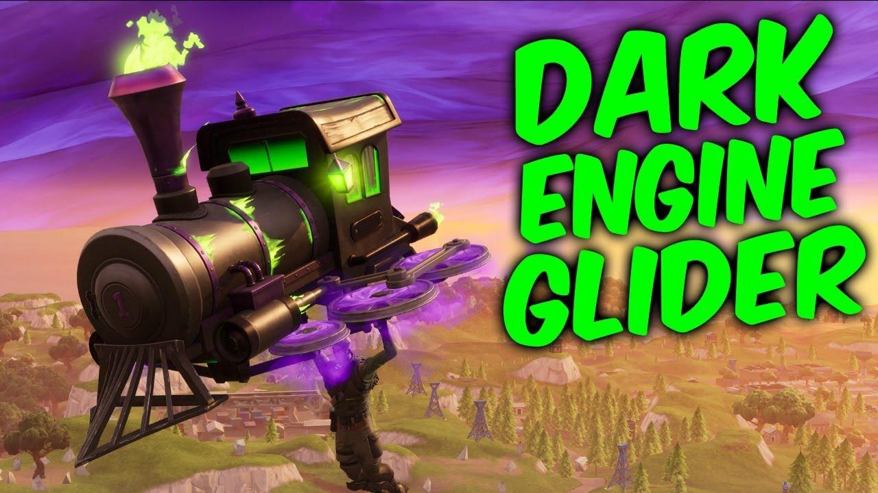 fortnite new glider gameplay dark engine fortnitemares glider - fortnite engine