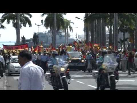 Peaceful demonstration in favour of Tamil Eelam - part 1 Mauritius