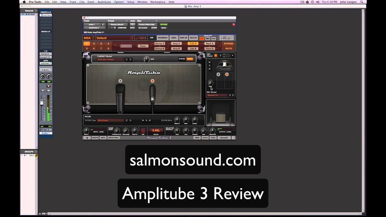 amplitube 3 guitar amp simulator plugin in pro tools youtube. Black Bedroom Furniture Sets. Home Design Ideas