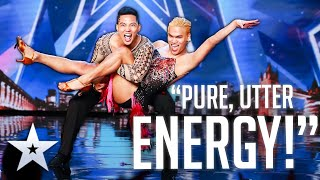 Unforgettable Audition: Ezekiel & Karl bring PURE ENERGY and SASS to the stage | Britains Got Talent
