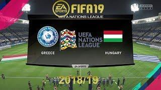 FIFA 19 Greece Vs Hungary | Uefa Nations League | PS4 Full Match