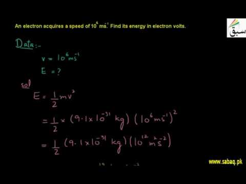 Problem-Electron Volt