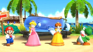Mario Party 9 - Party Mode - Blooper Beach - Mario vs Peach vs Yoshi vs Daisy (Master Difficulty)