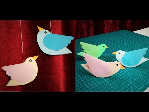 Paper Bird | How To Make Moving Paper Birds | Bird Hanging | DIY Wall Hanging Decor