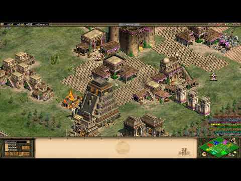 Age of Empires 2 HD 4v4 Arena-Aztec Eagle warrior spam