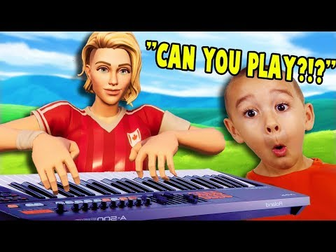 Playing Song Request in Fortnite