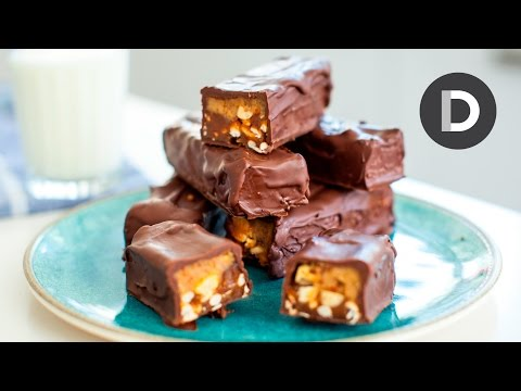 How to make... Chocolate Snickers Bars!