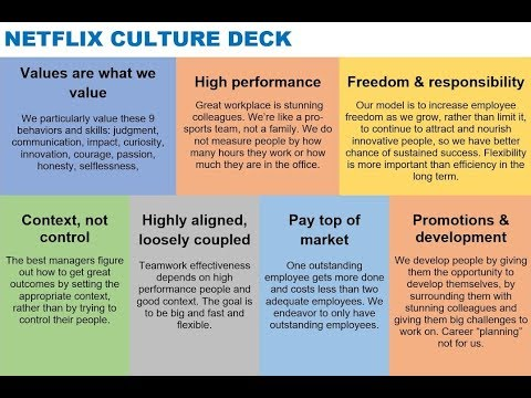 Netflix culture deck via Reed Hastings