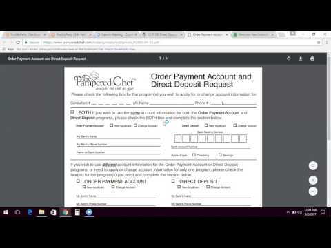 Direct Deposit and Order Payment Account