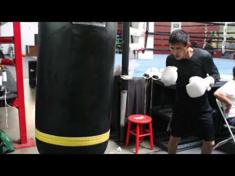 Crazy Ashkat Ualikhanov Ripping A 200lb Heavy Bag At The Boxing Lab In Oxnard Ca