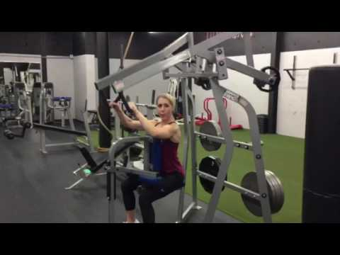 Back And Biceps Exercise Seated High Row Machine