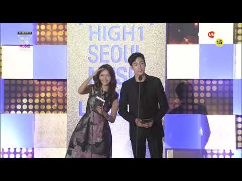 160114 Lee Hyun Woo, Ha Yeon Soo & Hongbin Vixx Cut @ High1 Seoul Music Award